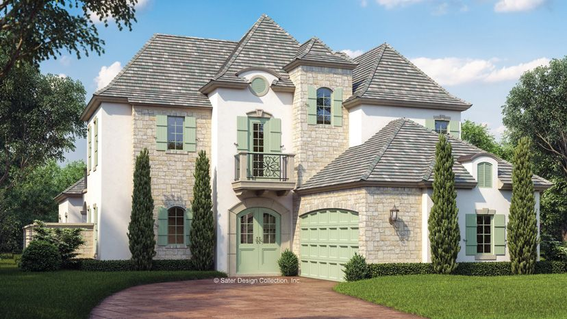 French Country House Plans and French Country Designs at ... | Ideas on french country home 2 000 sf, french country style homes, french country plans, french country home designs, french country landscaping,