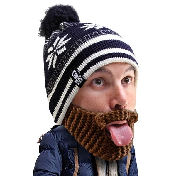 2df66a05005 Beard Head - funny knit beard hat beanie