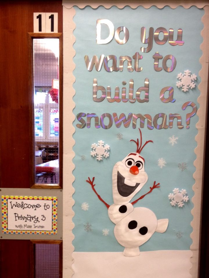 Frozen Olaf classroom door display  | Work Christmas ...