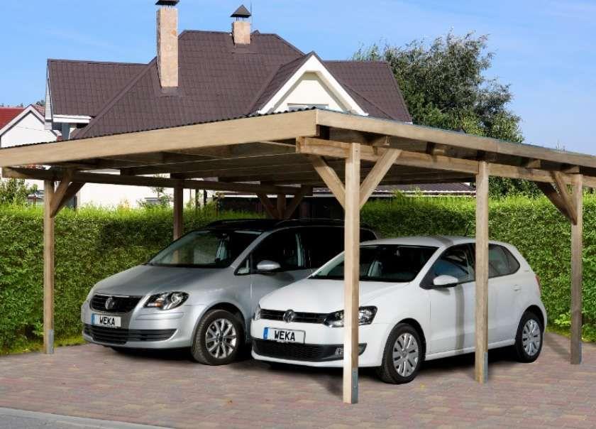 Karibu Doppelcarport Classic 2 Pvc Dach In 2020 Carports Carport Doppelcarport