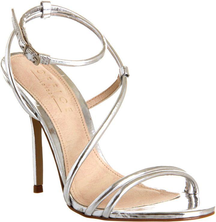 a49318de6e6 Office Jools Strappy Sandal Silver – High Heels