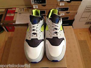 f57fdddd50ea Nike Air Huarache Grey Blue-Yellow OG Last Shot All Sizes 318429 130 ...