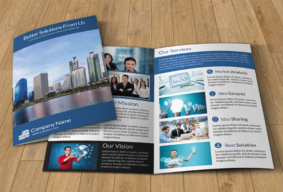 Creative Tri Fold Brochure Design Layout For Agency (585×386) | Print |  Pinterest | Graphics  Free Bi Fold Brochure Template Word