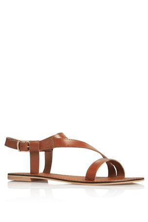 f5c66f8bf88480 Asymmetric Leather Sandals from Next