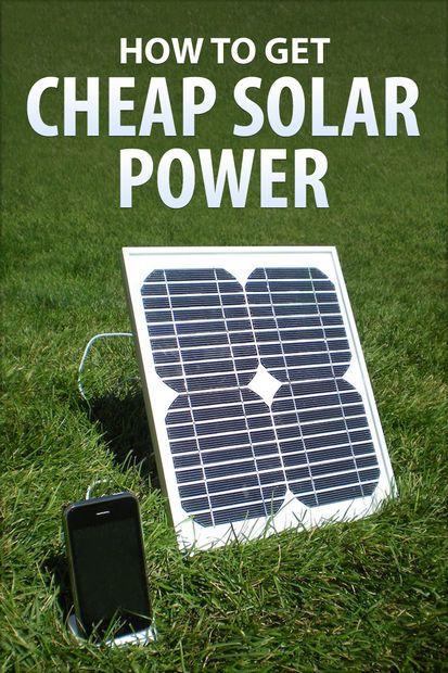 Cheap But Energy Efficient House Design: How To Get Cheap Solar Power