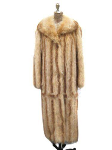 Full Length Whiskey USA Raccoon Directional Coat Size 10-12