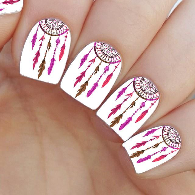 Dream Catcher Nail Decal | Dream catcher nails, Nail decals and Nail ...