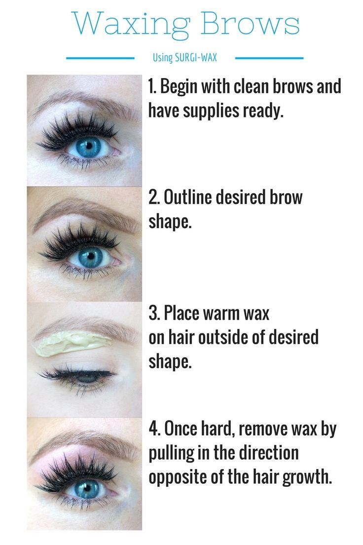 How To Wax Your Own Eyebrows Hairbeauty Pinterest Eyebrows