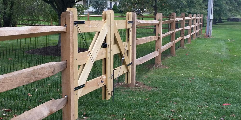 Fencing projects gallery wood fence installation split