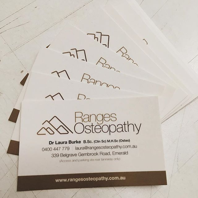 Business cards on 300gsm envirocare 100 recycled with a single business cards on 300gsm envirocare 100 recycled with a single side matte celloglazed for ranges osteopathy in emerald greenprintery environmental reheart Image collections