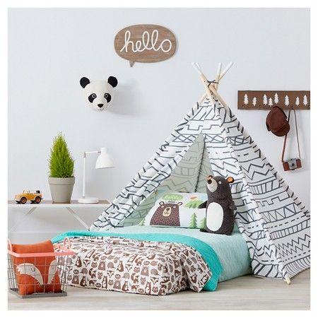 Panda Head Wall D 233 Cor Pillowfort Neutral Kids Room