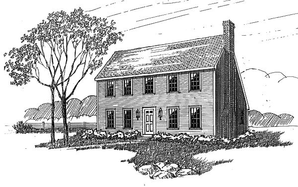 Saltbox Style COOL House Plan ID chp 808 Total Living Area 1900