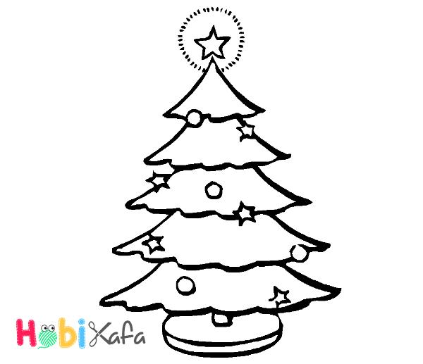 Yılbaşı Ağacı Resmi Nasıl çizilir Boyama Işleri