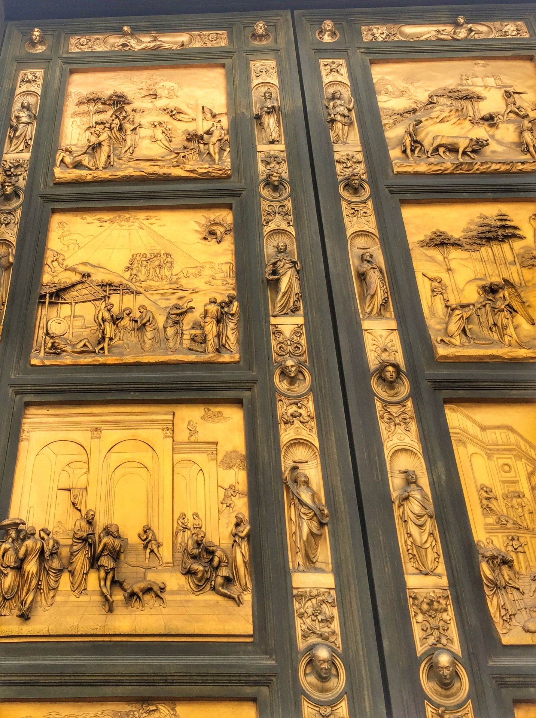 The stunning golden doors of the Baptistry of The Duomo in ...
