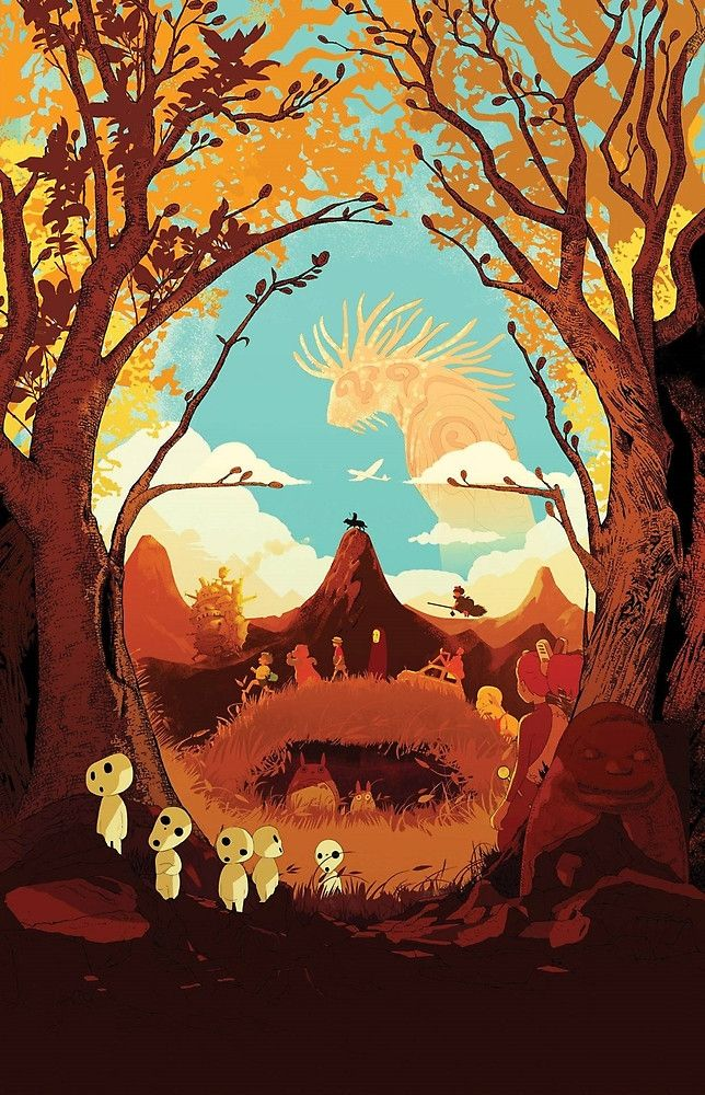 Studio Ghibli Fanart Wallpaper Ghibli, Hayao miyazaki