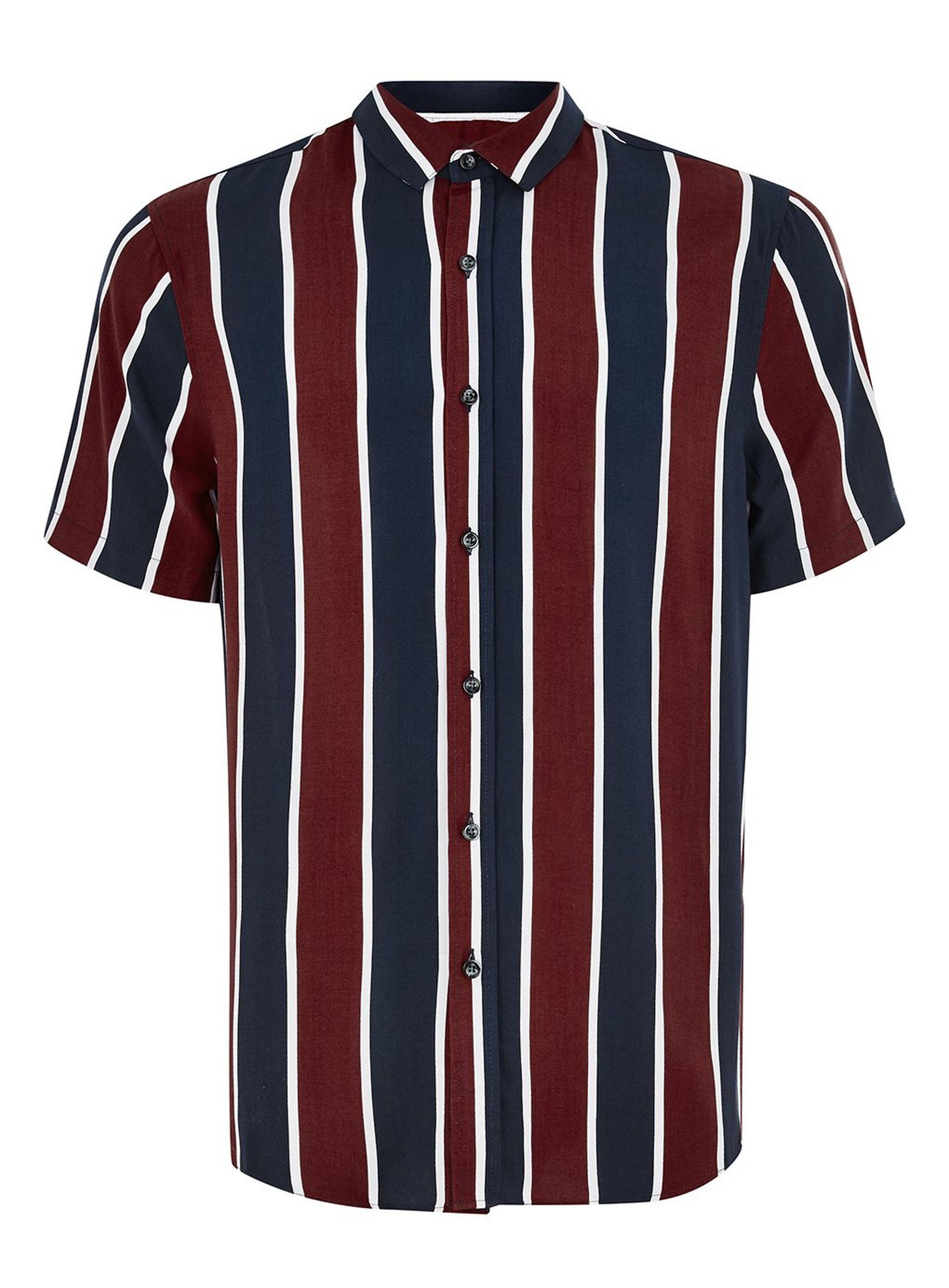 fcbd97c4786e8b Blue and Burgundy Stripe Classic Shirt in 2019