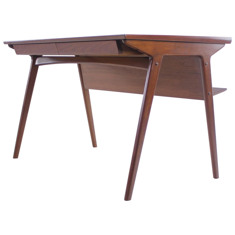 sleek and stylish danish modern teak desk designed by harry
