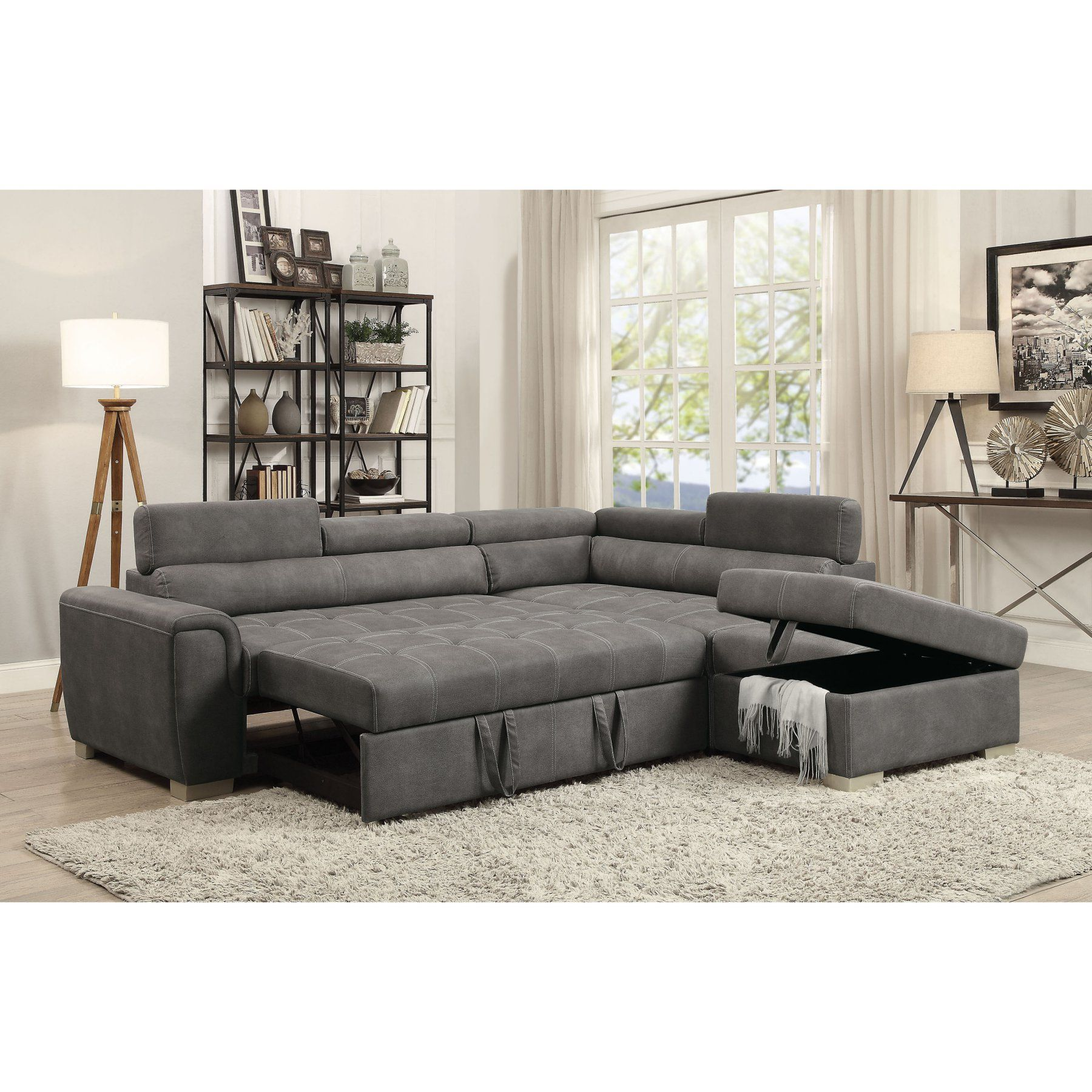 Acme Furniture Thelma Sectional Sofa With Sleeper And