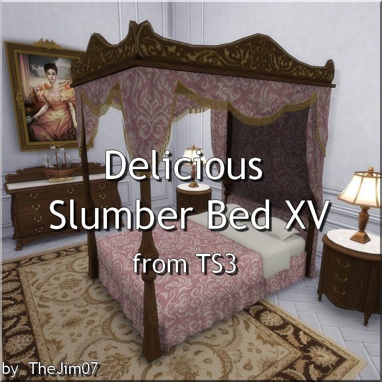 mod the sims delicious slumber bed xv from ts3 sims 4 sims sims 4 custom content