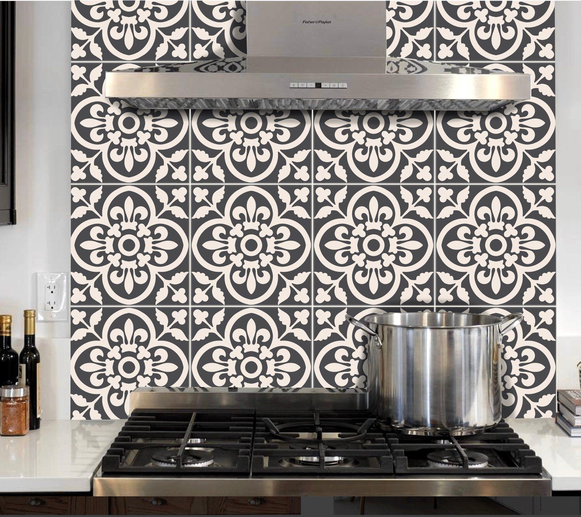 Tile Sticker Kitchen Bath Floor Wall Waterproof Removable Peel N Stick A67 Tile Stickers Kitchen Wall Waterproofing Kitchen And Bath
