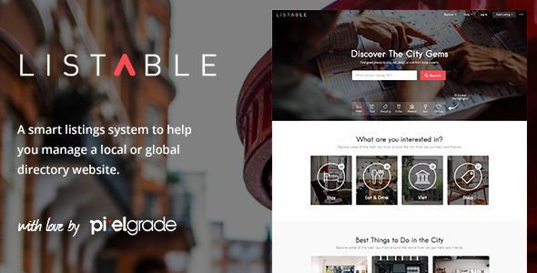 LISTABLE – A Friendly Directory WordPress Theme Download here: https ...