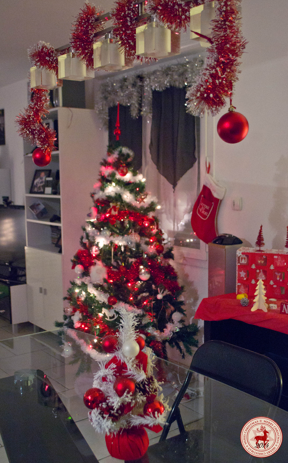 Sapin de noel rouge et blanc | I love CHRISTMAS everyday ...