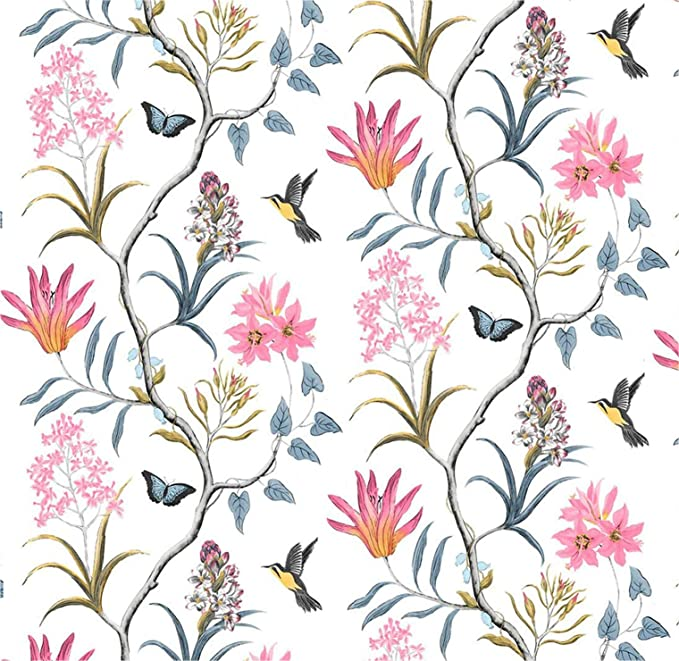 Vintage Floral Peel And Stick Wallpaper 17 7 X 118 Self Adhesive Removable Wallpaper Leaf Bird Rustic Wallpaper Bedroom Rustic Wallpaper Living Room Kitchen