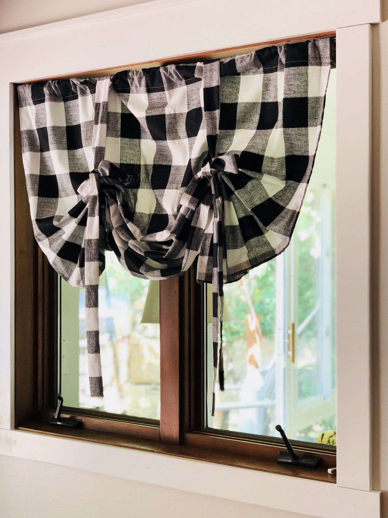 DIY How to Make Your Own Tie-Up Curtains - | Tie up ...