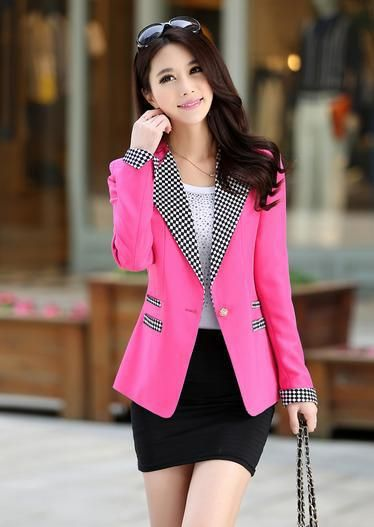 sacos elegantes de mujer moda coreana buscar con google chaquetas cortasmoda coreanapara