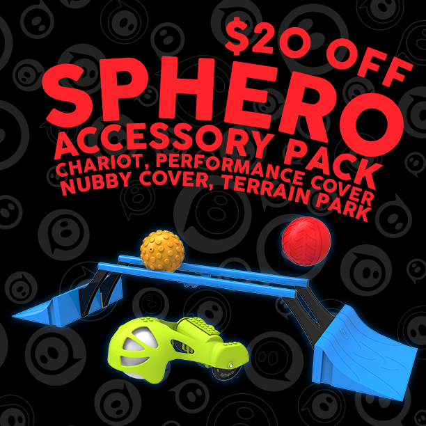 SAVE $20 on Ultimate Sphero Accessory Pack > http://snip.ly/sXfv #Sphero #BlackFriday #BlackFridayDeals #BlackFriday2014 #BlackFridayAds #GiftGuide #HolidayGiftGuide #Christmas2014 #ChristmasGift #Holidays #HolidayGift #CyberMonday #Gadget #toy #gifts #Gift #Gadget #SmartToy