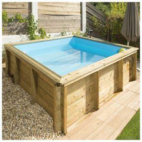 Mini piscina de madera tr picos 2 26 x 2 26 x 0 68m en for Piscinas de madera baratas