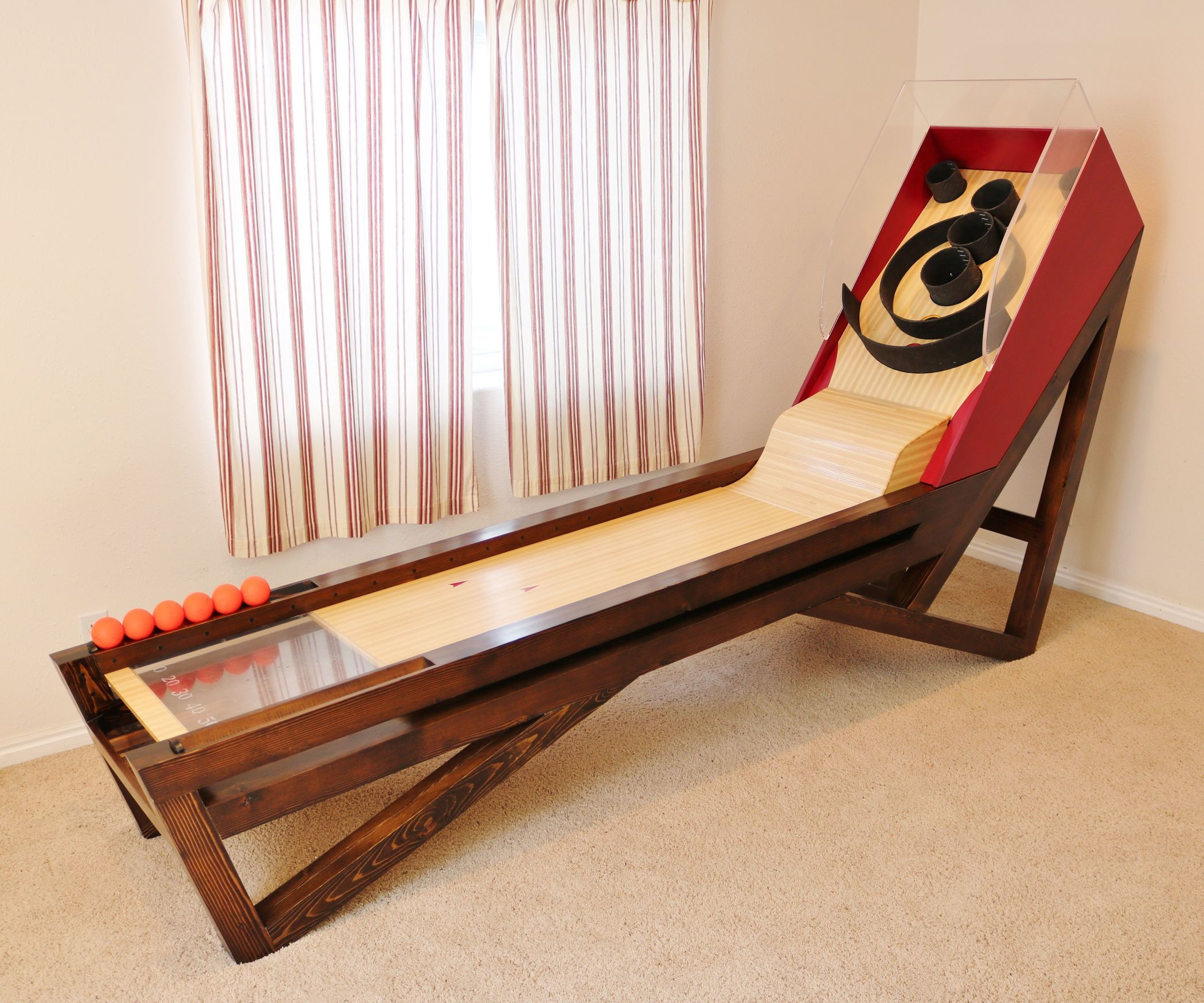 Wooden Skeeball Game   Easy woodworking projects ...