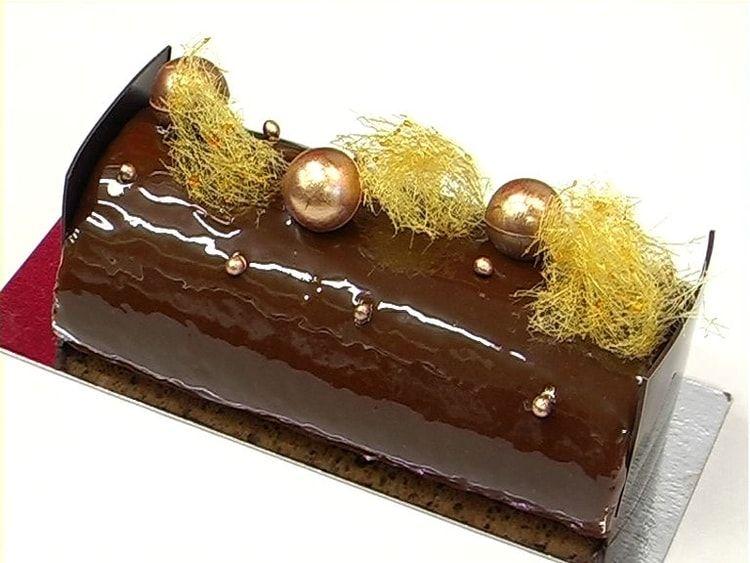 Buche roulee chocolat et caramel