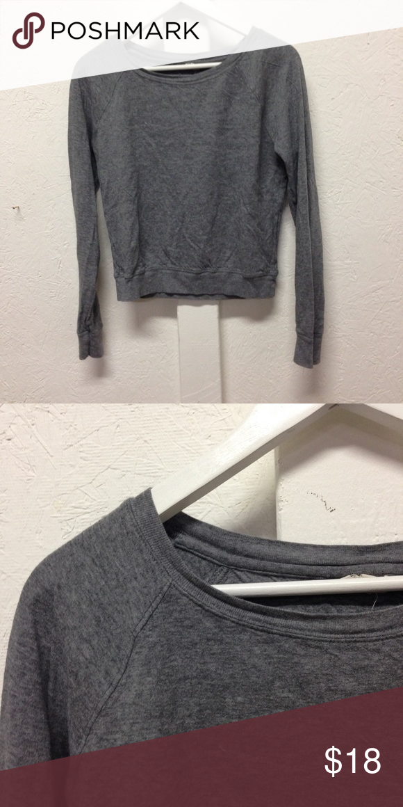 grey soft jersey sweater minimal grey sweater pullover Tops Tees - Long Sleeve