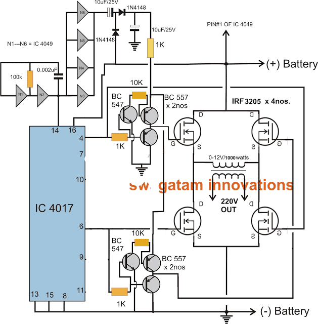 Make This 1kva 1000 Watts Pure Sine Wave Inverter Circuit Homemade Circuit Projects Circuit Diagram Electronic Circuit Projects Circuit Projects