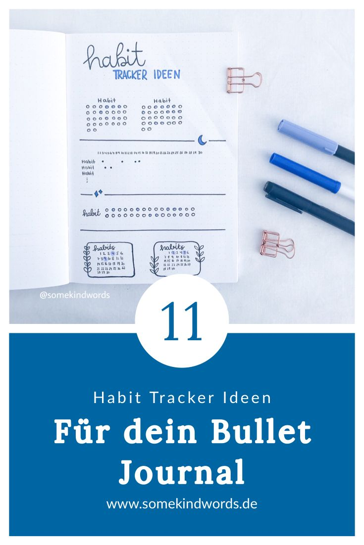 11 Habit Tracker layout ideas for your Bullet Journal