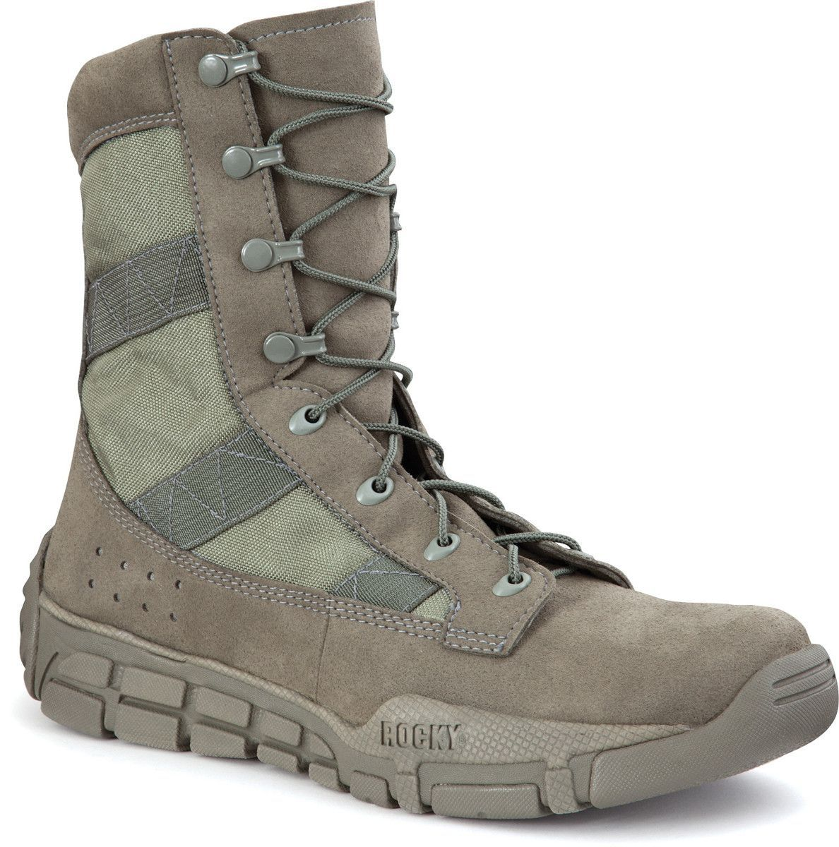 Rocky Mens Sage Green Faux Leather Lightweight C4t Trainer Military Duty Boots Tactical Boots Rocky Boots Duty Boots