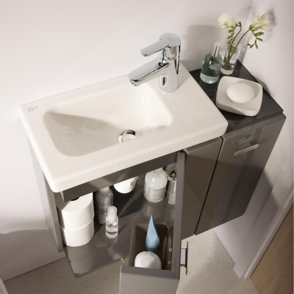 Kleines Waschbecken Mit Unterschrank Für Gäste-wc