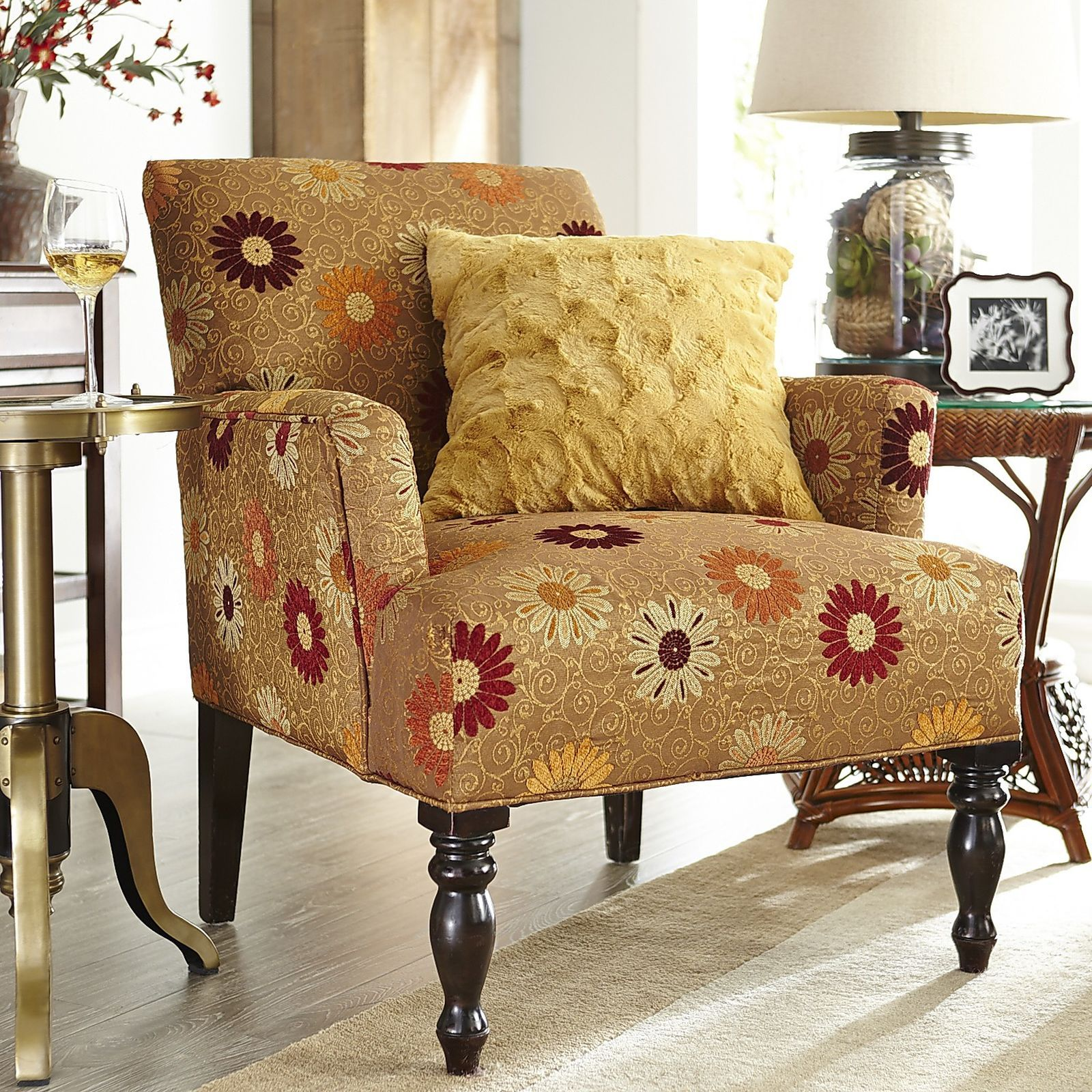 Liliana Armchair Daisy Gold Chair Accent Chairs Armchairs Comfortable Living Room Chairs