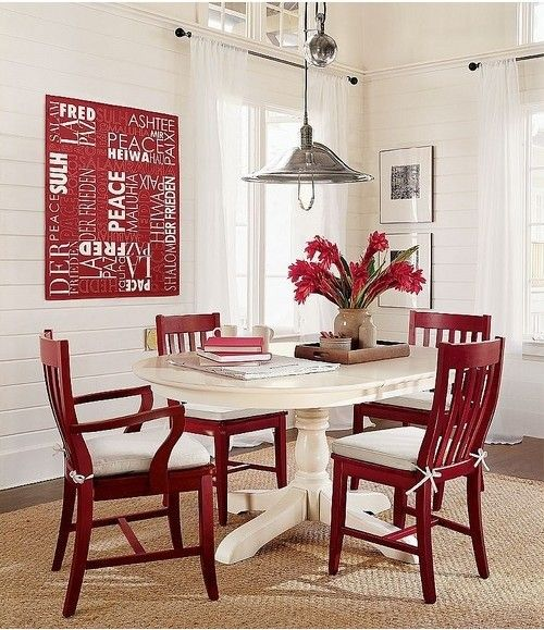 Dining Room Table Pad Covers Enchanting 28 Red Dining Chairs In Interior Designs Interiorforlife Design Ideas