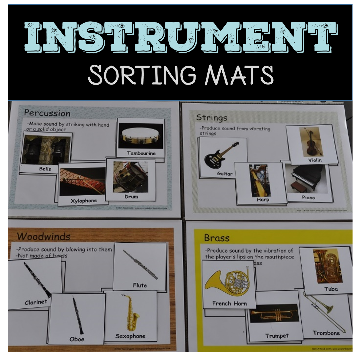 Musical Instrument Sorting Mats