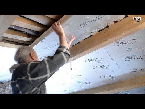 Isoler Facilement La Sous Toiture Avec Des Panneaux De Polystyrene Bricolage Avec Robert Youtube Isolation Combles Isolation Toiture Combles