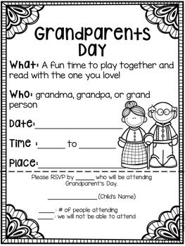 Grandparents Day: Banners, Cards, Bingo Games, Kid Book, & More #grandparentsdaycraftsforpreschoolers