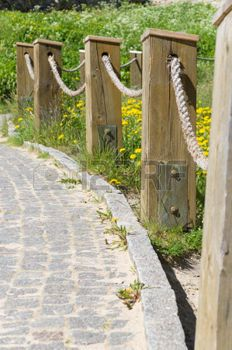 Zaun Mit Tau Landscape Ideas Fence Pavement Garden
