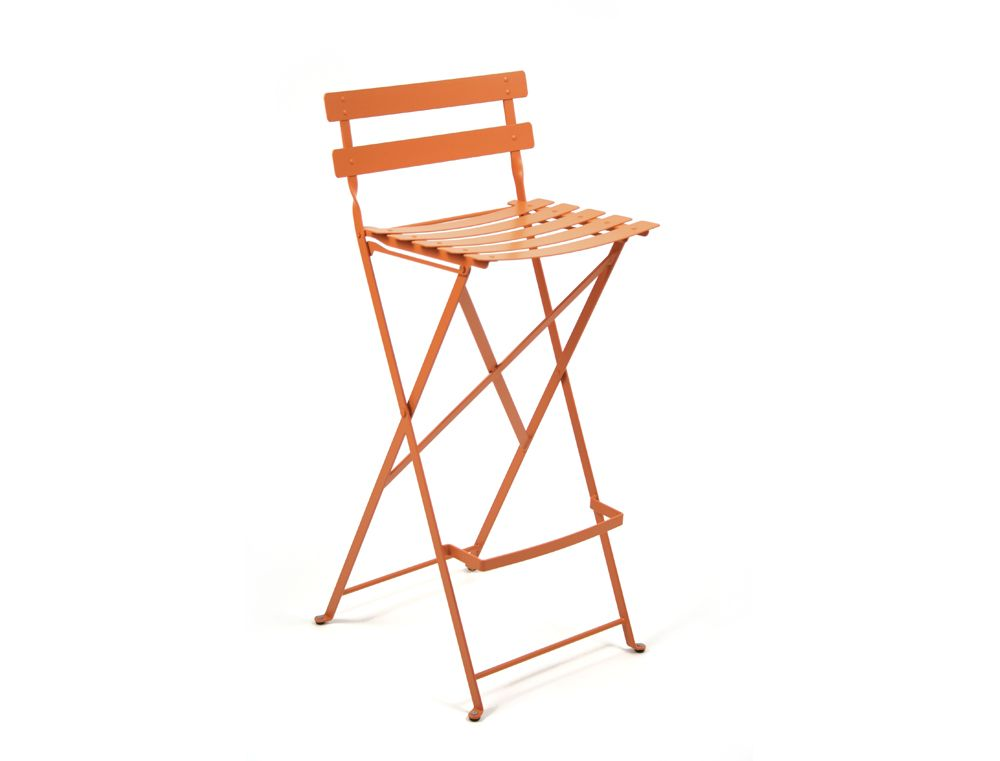 Fermob Bistro Folding Bar Stool High With Back Foot Rest
