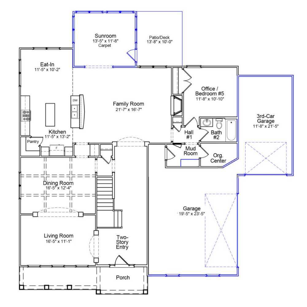 The Duvall Mungo Homes Duvall House Floor Plans Two Story Foyer