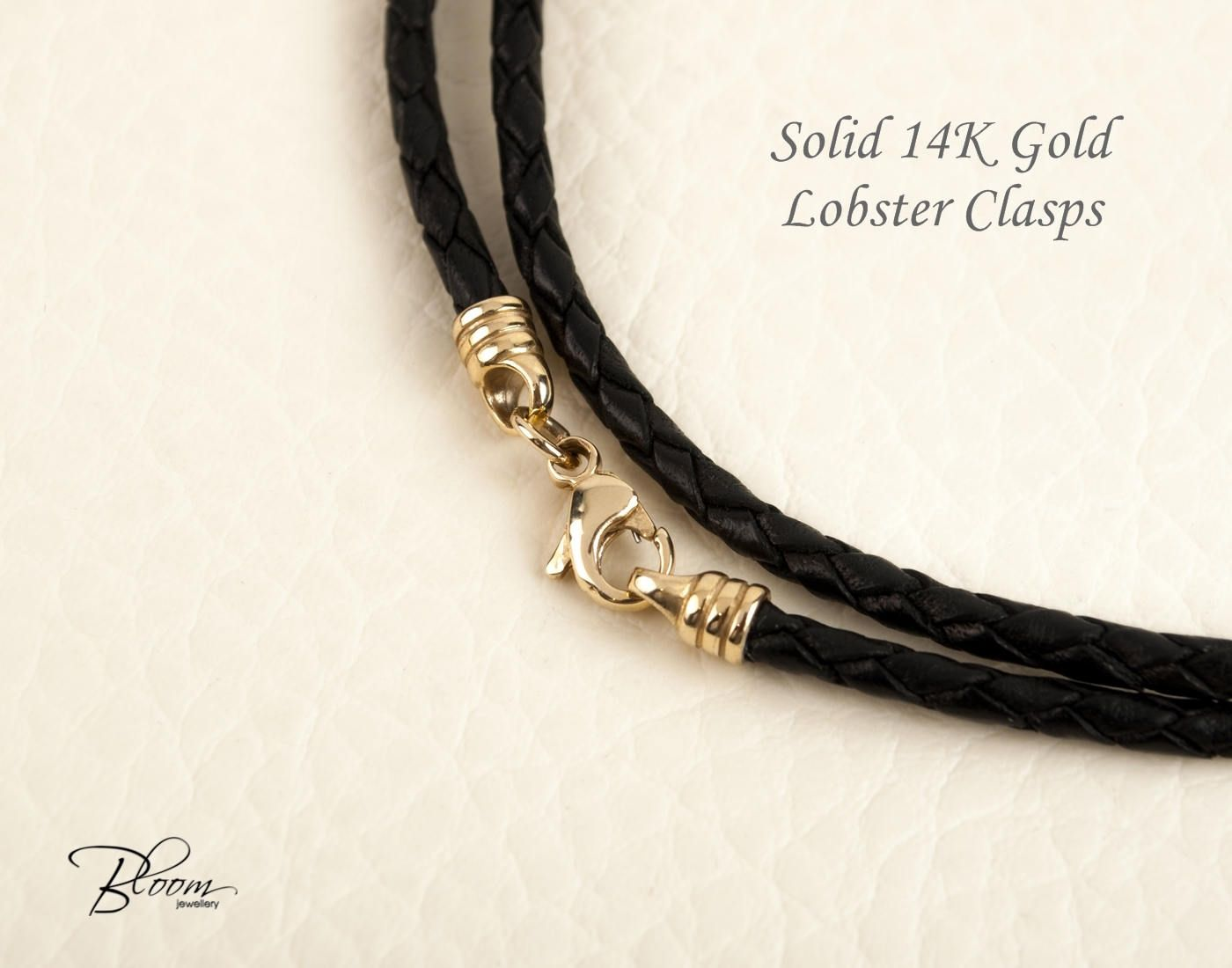 14K Yellow Gold Clasp 2 MM Pink Leather Cord Necklace MSRP $88