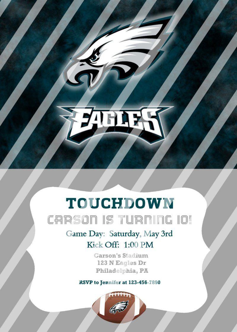 Philadelphia Eagles Personalized Party Invitation #19 (digital file ...