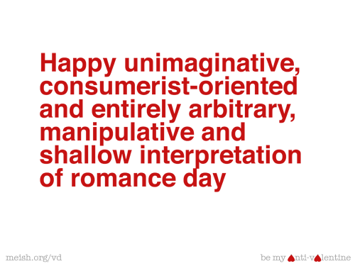 Image result for anti valentine's day