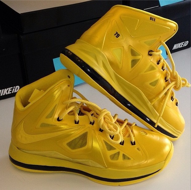 "64d13804750e ... Nike LeBron X ""Must Be the Honey"" iD from Nelly   Honey Nut Cheerios ..."
